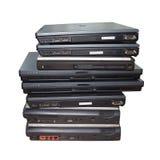 Pile d'ordinateurs portables d'isolement Photo stock