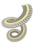 Pile d'USD de spirale Photo stock