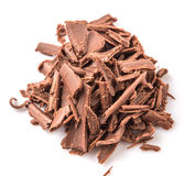 Pile Of Dark Brown Chocolate Pieces III Royalty Free Stock Photography