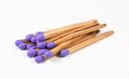 Pile of Dark Purple Matchsticks Royalty Free Stock Image