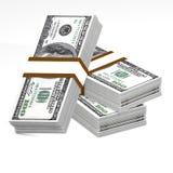 Pile de 100 dollars Image libre de droits