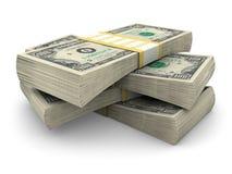 Pile de $100 factures Photos libres de droits