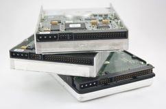 Pile de 3 unités de disque dur Images stock