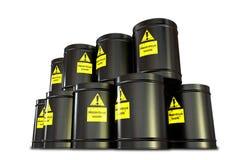 Pile de baril de déchets dangereux image stock