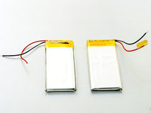 Pile de batterie utilisée de lithium-fer avec le fil Image stock