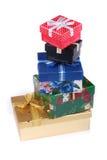 Pile de beaux cadres de cadeau Photographie stock libre de droits