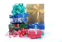 Pile de beaux cadres de cadeau Image stock