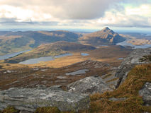 Pile de Ben, montagnes, Ecosse Image libre de droits
