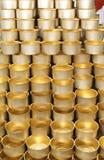 Pile de bidons neufs vides Photographie stock