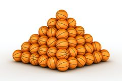 Pile de billes de basket-ball Photographie stock