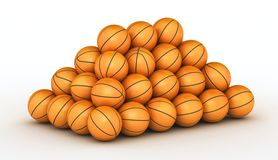 Pile de billes de basket-ball Photo stock