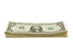 Pile de billet d'un dollar Image stock