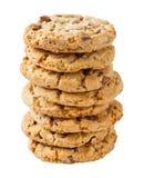 Pile de biscuit croustillant de gros morceau de chocolat Photo libre de droits