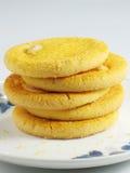 Pile de biscuit d'amande images stock