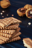 Pile de biscuits Image stock