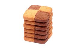 Pile de biscuits. Image stock