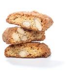 Pile de biscuits de cantuccini avec l'amande Photographie stock