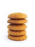 Pile de biscuits de farine d'avoine Images stock