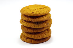 Pile de biscuits de farine d'avoine Images libres de droits