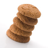 Pile de biscuits de farine d'avoine savoureux Photo libre de droits
