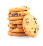 Pile de biscuits de puces de chocolat Photos stock