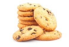 Pile de biscuits de puces de chocolat Photographie stock