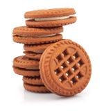 Pile de biscuits de sandwich Photos libres de droits