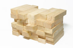 Pile de blocs en bois photos stock