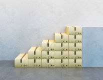 Pile de boîte en carton Images stock