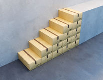 Pile de boîte en carton Photo stock