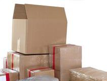 Pile de boîtes en carton Photo libre de droits