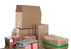 Pile de boîtes en carton Photos stock