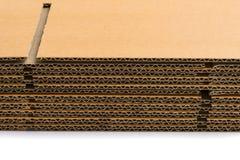 Pile de boîtes en carton ondulé vue de perspective latérale de la Floride Photos libres de droits