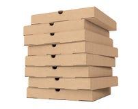Pile de boîtes vides à pizza de carton rendu 3d Image stock