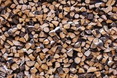 Pile de bois Photo libre de droits
