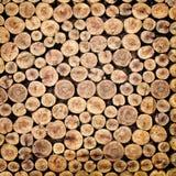Pile de bois coupé d'incendie Photographie stock libre de droits