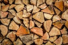 Pile de bois d'incendie Image libre de droits