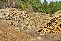 Pile de bois de charpente Images libres de droits
