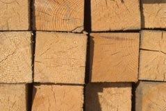 Pile de bois de charpente image libre de droits