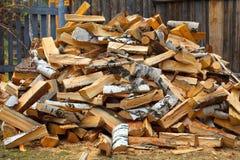 Pile de bois de chauffage Image stock