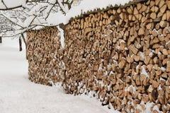 Pile de bois de chauffage image libre de droits