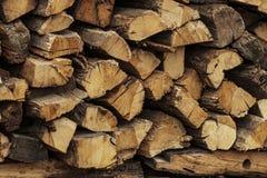 Pile de bois de chauffage Photographie stock libre de droits