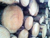 Pile de bois de construction, fond images stock