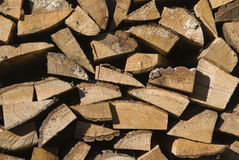 Pile de bois de logarithme naturel Photographie stock