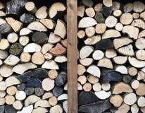 Pile de bois du feu Image stock