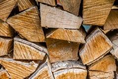 Pile de bois empilé Images libres de droits