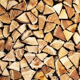 Pile de bois de rondin Images stock