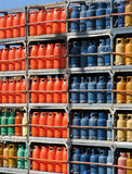 Pile de bouteilles de gaz photographie stock