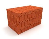 Pile de briques oranges illustration libre de droits
