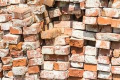 Pile de briques rouges Images libres de droits